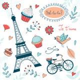 Piękna kolekcja Paris odnosić sie grafikę Fotografia Royalty Free