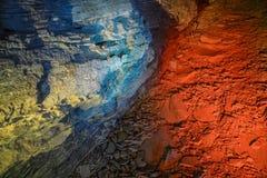 Piękna kolorowa i iluminująca jama fotografia royalty free