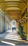Piękna kolumnada blisko Turyn dworca, Włochy fotografia royalty free