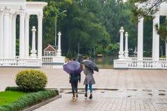 Piękna kolumnada w nadmorski parku w centrum Batumi, Gruzja zdjęcia royalty free