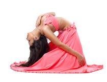 piękna kostiumowego tancerza Oriental różani potomstwa Fotografia Stock