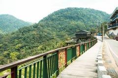 Piękna krajobrazowa góra z drogą przemian Obraz Stock