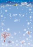 piękna krajobrazowa wiejska zima Zdjęcia Royalty Free
