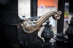Piękna kruszcowa kędziorek brama zdjęcia royalty free