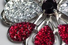 Piękna krystalicznego szkła broszka Obrazy Royalty Free