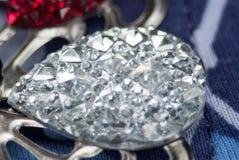 Piękna krystalicznego szkła broszka Obraz Stock