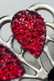 Piękna krystalicznego szkła broszka Fotografia Stock