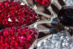 Piękna krystalicznego szkła broszka Obraz Royalty Free