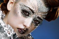 piękna kryształów twarzy makeup kobieta fotografia royalty free