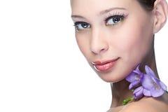 piękna kwiatu kobieta zdjęcie stock