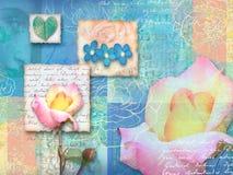 Piękna kwiecista pocztówka dla zróżnicowanych wakacji Fotografia Stock