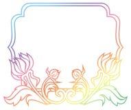 Piękna kwiecista rama z gradientową pełnią Raster klamerki sztuka Fotografia Royalty Free