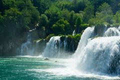 piękna leśna wodospadu Fotografia Stock