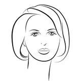 piękna lepsza konwertyty dziewczyny ilość surowa Mody kobiety piękna twarz atrament Fotografia Stock