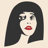 piękna lepsza konwertyty dziewczyny ilość surowa Mody kobiety piękna twarz atrament Zdjęcie Stock