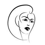 piękna lepsza konwertyty dziewczyny ilość surowa Mody kobiety piękna twarz atrament Zdjęcia Stock