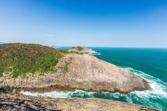Piękna linia brzegowa Hyuga przylądek w Miyazaki, Kyushu obraz stock