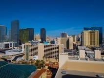Piękna linia horyzontu Las Vegas pasek z NY NY hotelem i kasynem - 12, 2017 LAS VEGAS, NEVADA, PAŹDZIERNIK - Zdjęcia Royalty Free