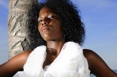 piękna młoda afro Fotografia Royalty Free