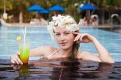 Piękna młoda blondynka Fotografia Royalty Free