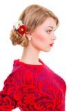 Piękna młoda blondynki kobieta Fotografia Stock