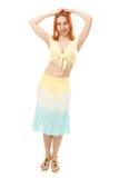Piękna młoda brunetki brzucha tana kobieta Fotografia Royalty Free
