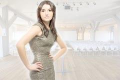 Piękna kobieta w audytorium fotografia stock