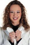 Piękna młoda dama kierowniczy strzał Fotografia Stock