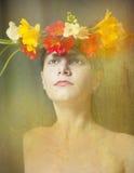 Wianek kwiaty Obrazy Stock