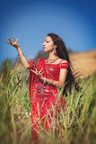 Piękny Indiański kobiety bellydancer. Arabska panna młoda. Fotografia Royalty Free