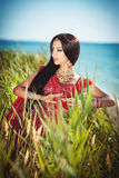 Piękny Indiański kobiety bellydancer. Arabska panna młoda. Zdjęcie Stock