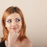 piękna młoda kobieta myślące obrazy royalty free