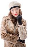 Piękna młoda kobieta w żakiecie Obraz Stock
