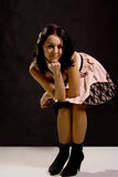 Piękna młoda kobieta w partyjnej sukni Obraz Royalty Free
