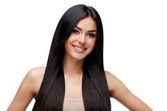 Piękna młoda kobieta z Czystym zdrowym włosy Obraz Stock