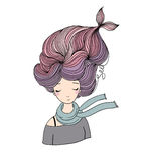 Piękna młodej dziewczyny syrenka abstrakcjonistyczny abstrakci tła morza temat royalty ilustracja