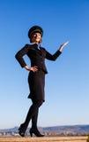Piękna młodej kobiety stewardesa Fotografia Stock