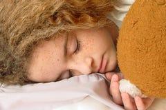 piękna mała śpi Obrazy Stock