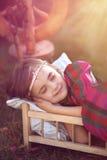 piękna mała śpi Zdjęcia Royalty Free