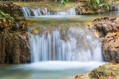 Piękna mała siklawa, Erawan park narodowy, Kanchanaburi, T Zdjęcia Royalty Free