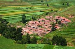 Piękna mała wioska fotografia stock