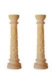 Piękna marmurowa kolumna na białym tle Fotografia Royalty Free