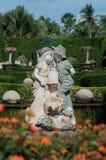 Piękna marmurowa statua aniołowie w parku w Tajlandia obrazy stock