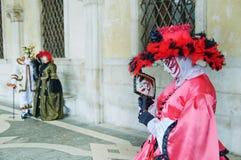 piękna maski lustra czerwień Obrazy Stock