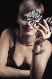 piękna maskowa kobieta zdjęcie stock