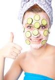 piękna maskowa skincare kobieta Obraz Royalty Free