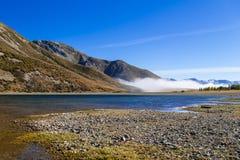 Piękna mgła na Lyndon jeziorze Zdjęcia Royalty Free