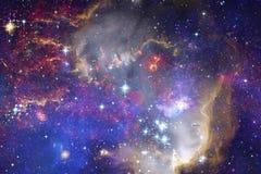 Piękna mgławica, starfield, grono gwiazdy w kosmosie royalty ilustracja