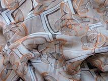 Piękna miękka kwiecista tkaniny tekstura, może używać jako tło Fotografia Stock