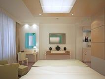 Piękna Mistrzowska sypialnia w art deco Zdjęcia Royalty Free